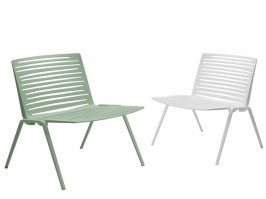 Zebra Lounge Chairs - tea green and white