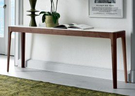 Ziggy 8 console table with white marble top