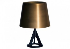 Base table lamp in brushed brass