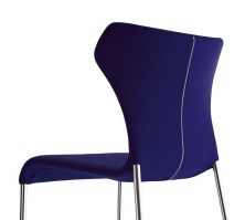 Papilio dining chair, showing the zip for cover removal