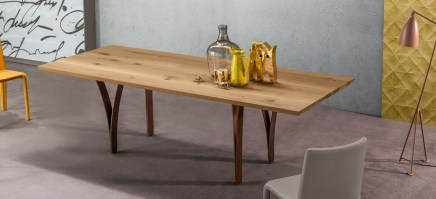 Gap table with natural finish.