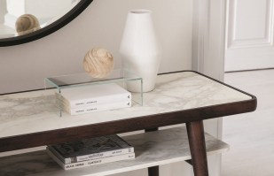 Chantal console table with marble