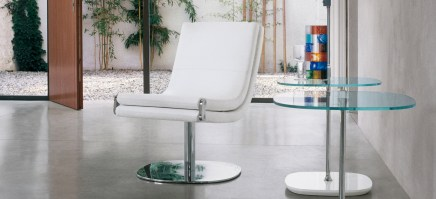 dragonfly_chrome and white_chair_in situ