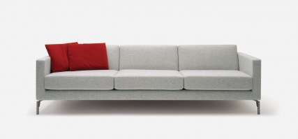 HM34d2 four seat sofa with narrow arms