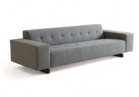 HM46n three seater sofa with buttoned upholstery
