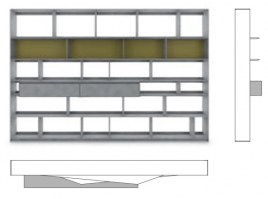 Flat.C Bookcase FLC0063_Drawing