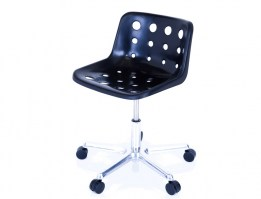 Polo swivel chair in black