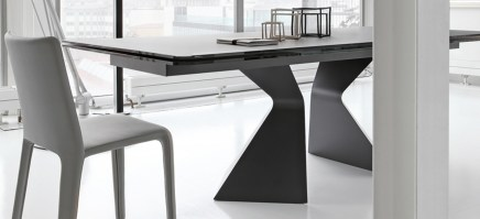 Prora table from Bonaldo with black glass top
